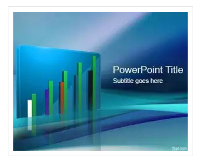free sales PPT template with nice 3D chart