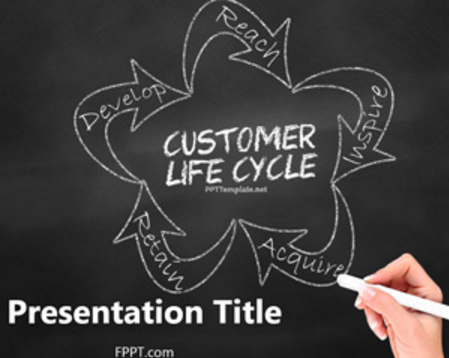 Chalkboard Customer Lifecycle PowerPoint Template