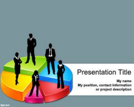 Business 3D Pie Chart Template for PowerPoint