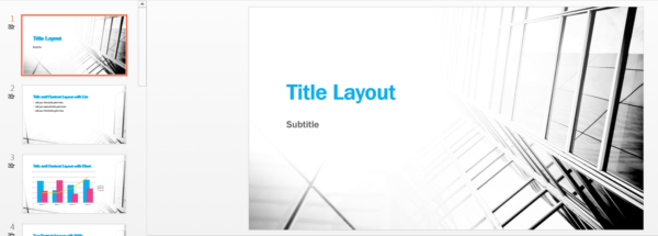 Business Sales Contrast Presentation Template