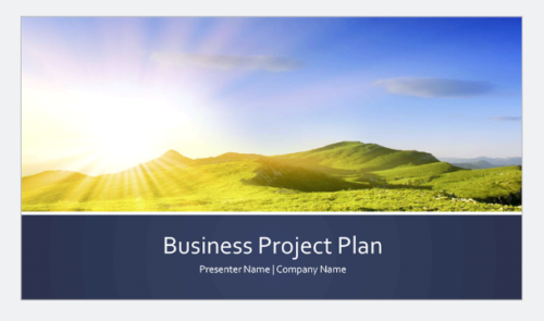 Business project plan presentation