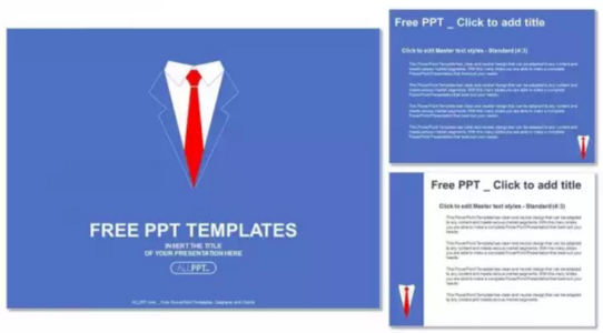 Sales man shirt with red tie PowerPoint Templates