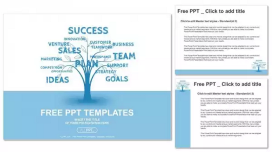 Concept blue word tree leadership marketing