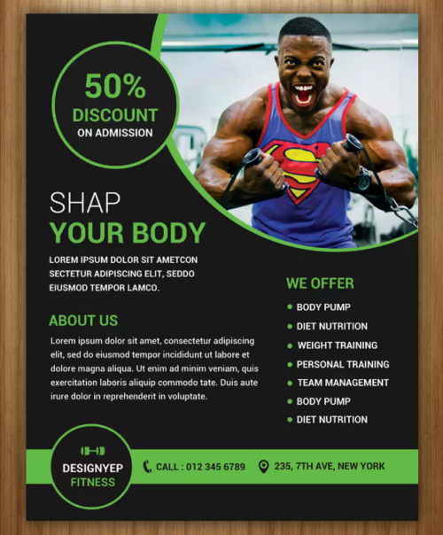 Designyep Fitness Flyer