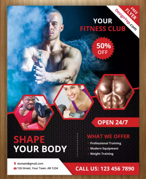 Your Fitness Club Flyer