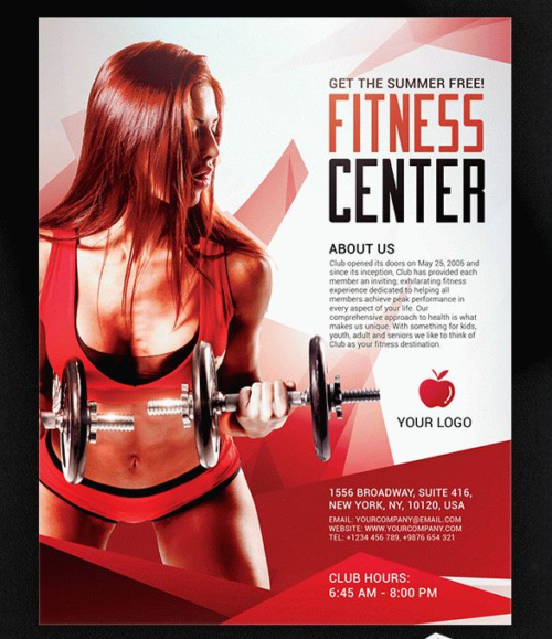 Fitness Center Sports Flyer & Facebook Cover