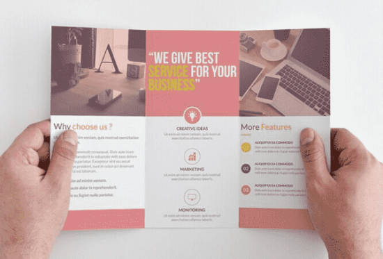 clear_and_clean_corporate_trifold_brochure_template_screenshot