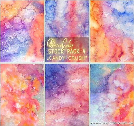 candy_crush_watercolor_stock_pack_v_image