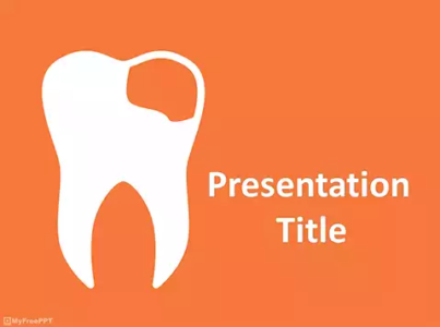 Damaged Teeth PowerPoint Template
