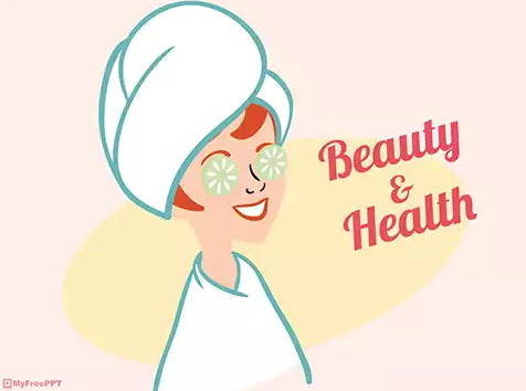 Beauty and Health PowerPoint Template