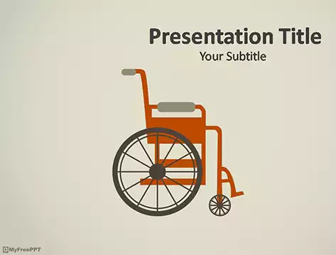 Wheelchair PowerPoint Template