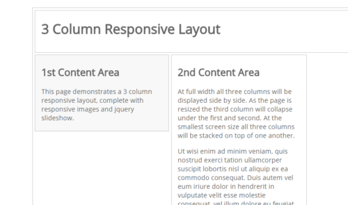 3 Column Responsive Layout