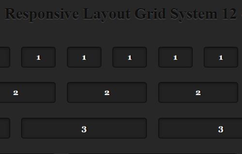 Grid System 12 Columns