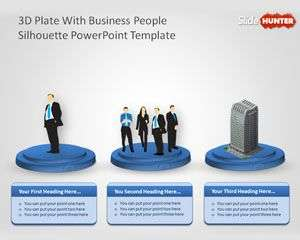 3d_plate_with_business_people_sillhoutte_powerpoint_template