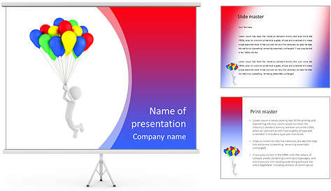 3d_person_holding_colored_balloons_and_flying_powerpoint_template