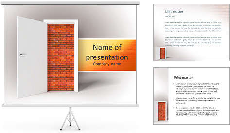 3d_image_of_white_door_and_brick_wall_powerpoint_template