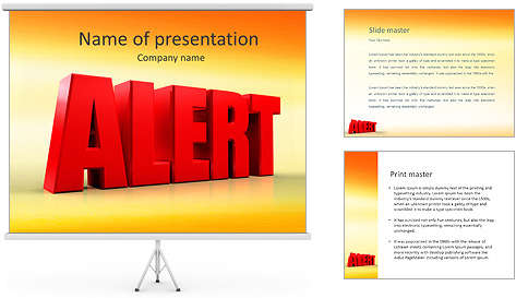 3d_alert_text_on_white_background_powerpoint_template