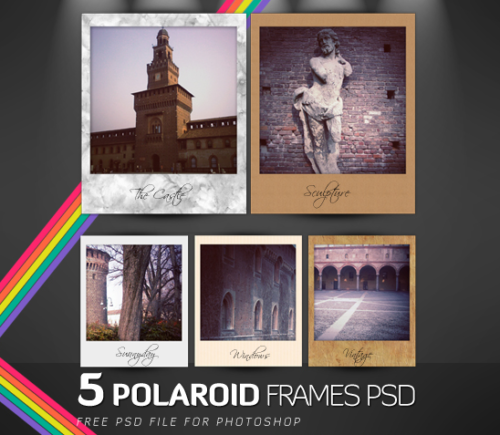 Vintage Polaroid Frames Photoshop Pds File by Romenigps