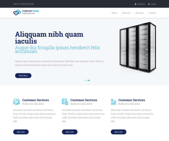 hosting responsive template