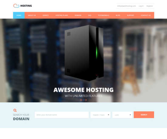 hosting web hosting template