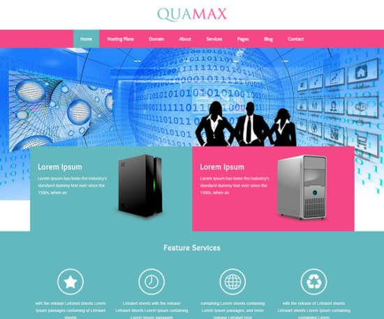 quamax web hosting template