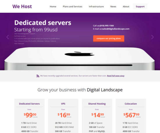 web hosting flat bootstrap responsive web template