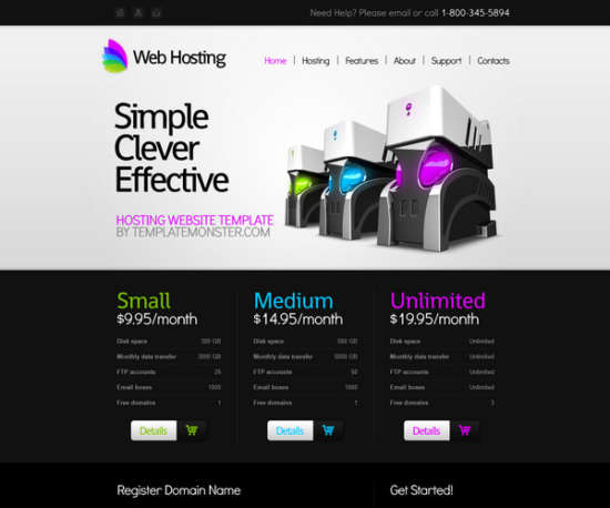 free hosting website template