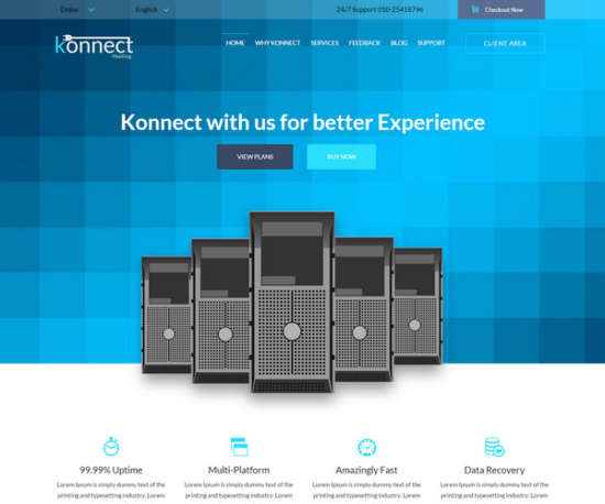 konnect web hosting template