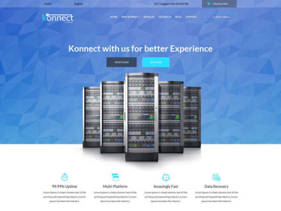 konnect a web hosting flat bootstrap