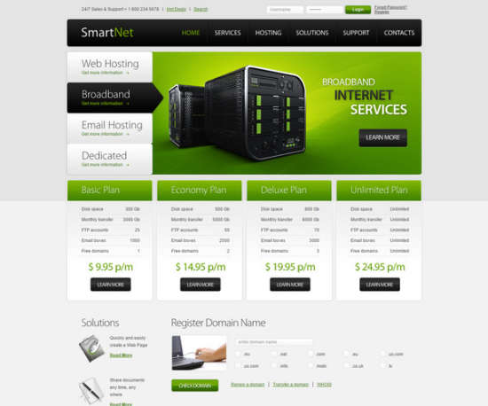smartnet html5 theme