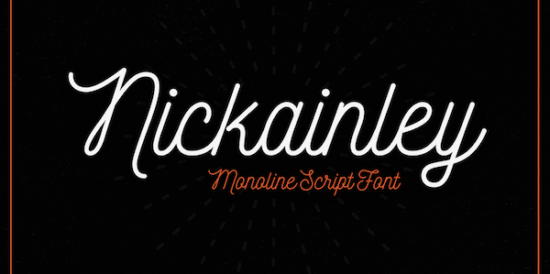 nickainley_cursive_font