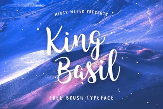 king_basil_cursive_font