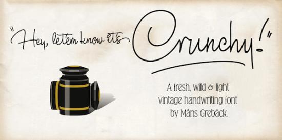 crunchy_cursive_font