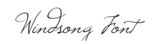 windsong_cursive_font