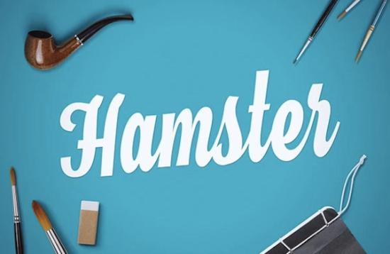 hamster_cursive_font