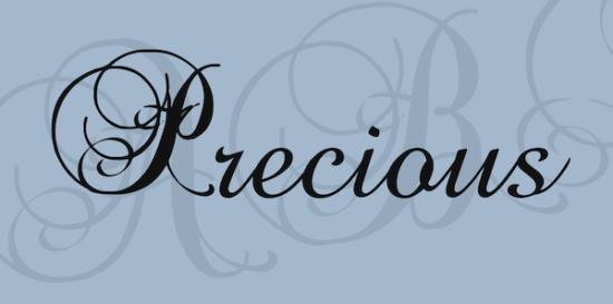 precious_cursive_font