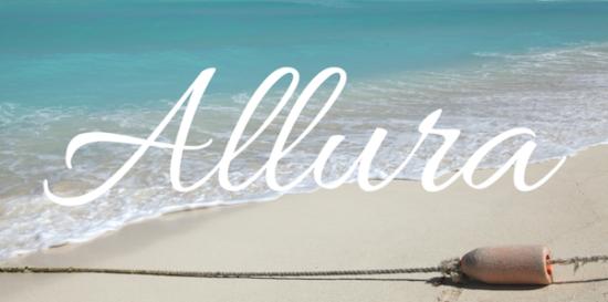 allura_cursive_font