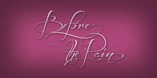 before_the_rain_font