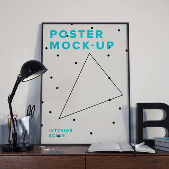 photoshop smart objects poster mockup psd