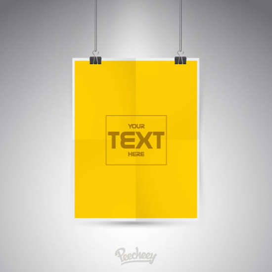 blank yellow poster template
