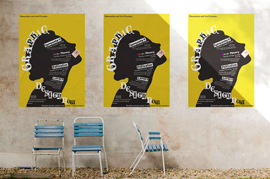 45 Beautiful Free Poster Mockups For Designers Ginva