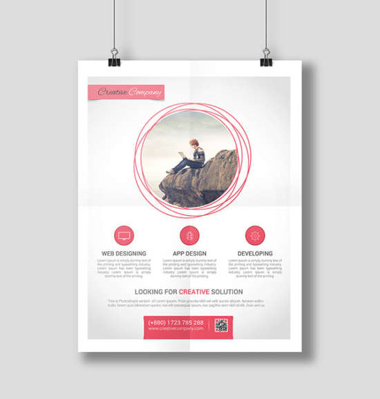 modern webapp poster design
