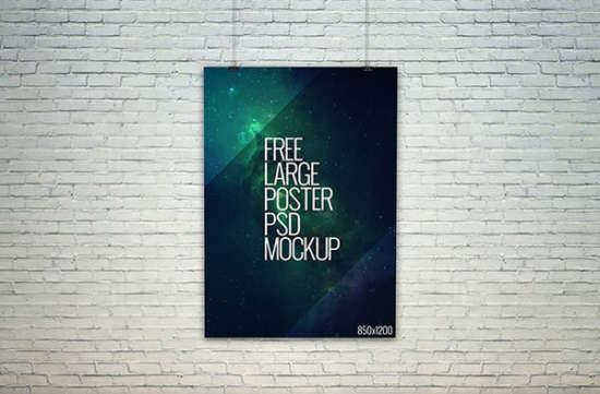 large poster presentation mockup