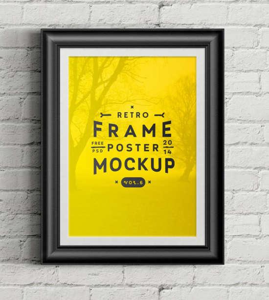 psd poster frame mockup by pixeden