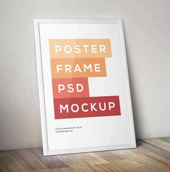 poster frame mockup by graphicburger