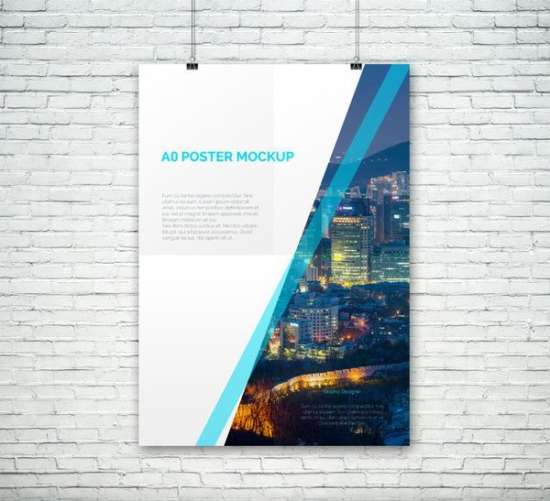 free a0 psd poster mockup