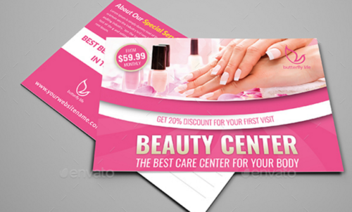 Beauty Center Postcard Template