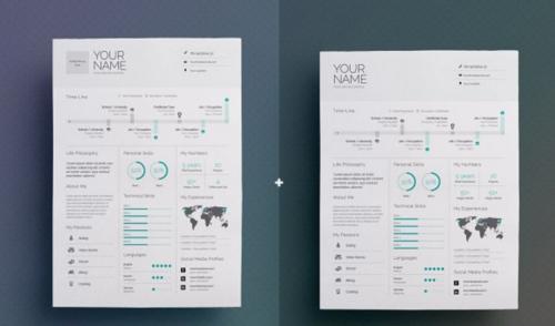 Modern Infographic Resume/CV