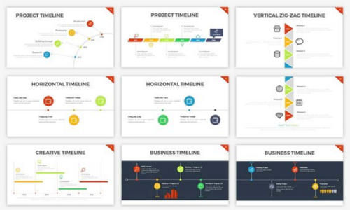 Free Timeline Slides PowerPoint Templates Ginva - Project timeline powerpoint template