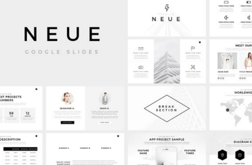 Neue Simple And Minimalist Google Slide Template